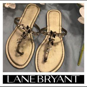 ⭐️ Lane Bryant Stud Silver Sandals ⭐️